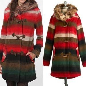 BB Dakota Bostwick Native Tribal Striped Coat M